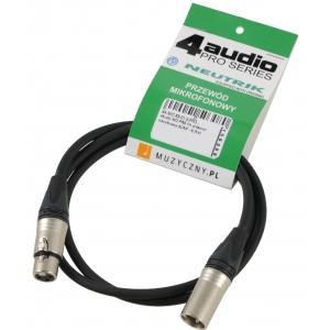 4Audio MIC PRO 1m przewód mikrofonowy XLR-F - XLR-M Neutrik
