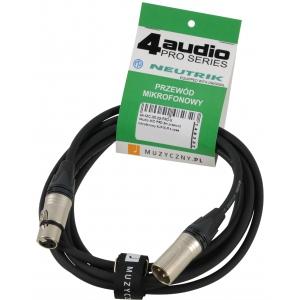 4Audio MIC PRO 3m przewód mikrofonowy XLR-F - XLR-M z  (...)