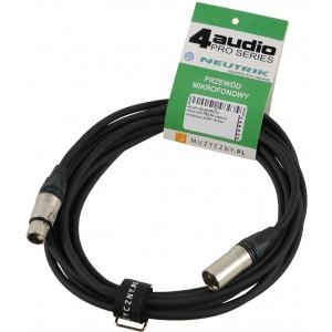 4Audio MIC PRO 5m przewód mikrofonowy XLR-F - XLR-M z  (...)