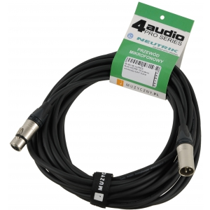 4Audio MIC PRO 10m przewód mikrofonowy XLR-F - XLR-M z  (...)