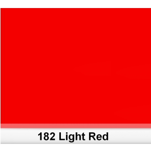 Lee 182 Light Red filtr barwny folia - arkusz 50 x 60 cm