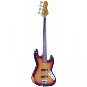 Vintage V74MRJP gitara basowa fretless sunburst