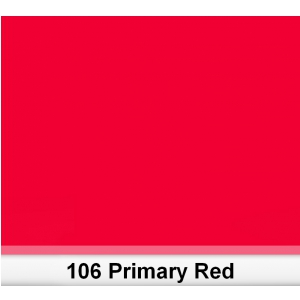 Lee 106 Primary Red filtr barwny folia - arkusz 50 x 60 cm