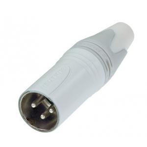 Neutrik NC3MXX-WT złącze kablowe męskie, białe