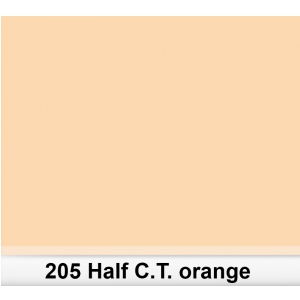 Lee 205 Half  C.T.Orange filtr barwny folia - arkusz 50 x  (...)