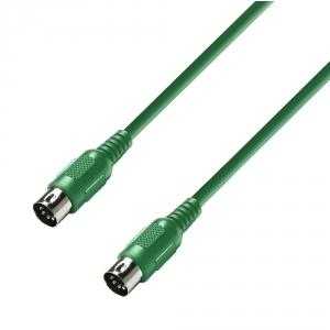 Adam Hall K3 MIDI 0300 GRN kabel MIDI 3m (zielony)