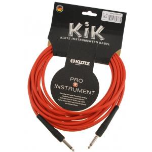 Klotz KIK 6.0 PP RT kabel instrumentalny 6m, czerwony