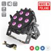 Flash Pro LED PAR 64 SLIM 7x10W RGBW 4w1 PRO MKII - reflektor LED  czarny płaski