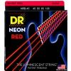 DR NRB-45 struny do gitary basowej czterostrunowej neon czerwone 45-105
