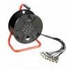 Adam Hall K3 CDMC 8015 Bęben kablowy Multicore ze zintegrowanym modułem scenicznym Stagebox 8/0, 15 m