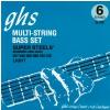 GHS Super Steels struny do gitary basowej, 6-str. Medium Light, .027-.126, High C
