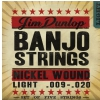 Dunlop Banjo Nickel Strings Light 5 strings struny do banjo 9-20