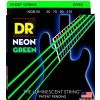 DR NEON Hi-Def Green - struny do gitary basowej, 4-String, Heavy, .050-.110