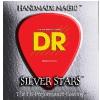 DR K3 SILVER STARS - struny do gitary basowej, 6-String, Coated, Medium, .030-.125