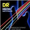 DR NEON Hi-Def Multi-Color - struny do gitary basowej, 6-String, Medium, .030-.125