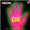 DR NEON Hi-Def Pink - struny do gitary basowej, 6-String, Medium, .030-.125
