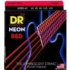 DR NEON Hi-Def Red - struny do gitary basowej, 5-String, Medium, .045-.125
