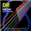 DR NEON Hi-Def Multi-Color - struny do gitary akustycznej, Coated, Light, .010-.048