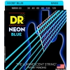 DR NEON Hi-Def Blue - struny do gitary basowej, 6-String, Medium, .030-.125