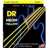 DR NEON Hi-Def Yellow - struny do gitary basowej, 4-String, Heavy, .050-.110