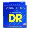 DR PURE BLUES - struny do gitary basowej, 4-String, Light, .040-.100