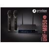 Prodipe M850 DSP DUO UHF mikrofon bezprzewodowy podwójny, zmienna częstotliwość