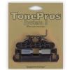 TonePros LPS02-B - Bridge and Tailpiece Set, mostek do gitary, czarny