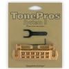 TonePros AVT2P-SG - Wraparound Bridge, mostek do gitary, satynowy złoty