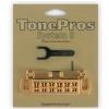 TonePros AVT2P-G - Wraparound Bridge, mostek do gitary, złoty