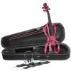 Stagg EVN X 4/4 MRD skrzypce elektryczne, komplet, kolor czerwony metalik