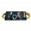 RockCable kabel instrumentalny - angled TS (6.3 mm / 1/4), gold - 3 m / 9.8 ft.