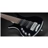 RockBass Corvette Basic 5-str. Black Solid High Polish, Active, Fretted, Lefthand, Medium Scale gitara basowa