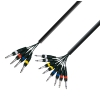Adam Hall Cables K3 L8 VP 0500 - Kabel Multicore 4 x jack stereo 6,3 mm - 8 x jack mono 6,3 mm, 5 m