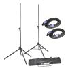 Adam Hall Stands SPS 023 SET 2 - Zestaw składający się z 2 stojaków głośnikowych, torby oraz standardowych kabli głośnikowych