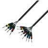 Adam Hall Cables K3 L8 VP0 300 - Kabel Multicore 4 x jack stereo 6,3 mm - 8 x jack mono 6,3 mm, 3 m