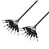 Adam Hall Cables K3 L8 PP 0300 - Kabel Multicore 8 x jack mono 6,3 mm - 8 x jack mono 6,3 mm, 3 m