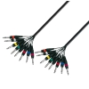 Adam Hall Cables K3 L8 VV 0500 - Kabel Multicore 8 x jack stereo 6,3 mm - 8 x jack stereo 6,3 mm, 5 m