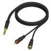 Adam Hall Cables REF 719 3 - Kabel audio jack stereo 6,3 mm - 2 x cinch męskie, 3 m