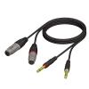 Adam Hall Cables REF 707 150 - Kabel audio 2 x XLR żeńskie - 2 x jack mono 6,3 mm, 1,5 m