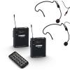 LD Systems Roadbuddy 10 BPH 2 B5 (584 - 607 MHz) przenośny zestaw nagłośnieniowy z podwójnym mikrofonem bezprzewodowym nagłownym