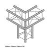 DuraTruss DT 24-C30-L90 corner element konstrukcji aluminiowej narożnik 90 st. 50cm + dół