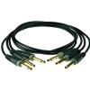 Klotz zestaw 3 kabli połączeniowych do efektów gitarowych 15cm