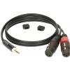 Klotz AY8 0100 kabel mini TRS / 2xXLRf 1m