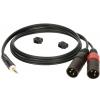 Klotz AY9 0300 kabel mini TRS / 2xXLRm 3m