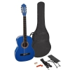 Martinez MTC 244 PU Blue natural gitara klasyczna + pokrowiec
