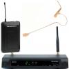 Trantec S4.10-B-EB GG3 zestaw bezprzewodowy z mikr. nagłownym UHF, 16 kanałów, odbiornik bezprzewodowy z nadajnikiem typu bodypack; pasmo UHF 606-614 MHz