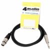 4Audio MIC2022 PRO 1,5m przewód niesymetryczny XLRż TS Neutrik