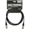 Klotz GRG1FM 0150 Greyhound przewód mikrofonowy XLR-F - XLR-M 1,5m, złącza Klotz