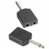 Adam Hall Connectors 7547 - Adapter typu Y 2 x jack mono 6,3 mm żeński na jack mono 6,3 mm męski