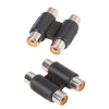 Adam Hall Connectors 7552 - Adapter 2 x cinch mono żeńskie na 2 x cinch mono żeńskie